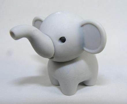 IWAKO NOVELTY ERASERS / RUBBERS - GREY ELEPHANT